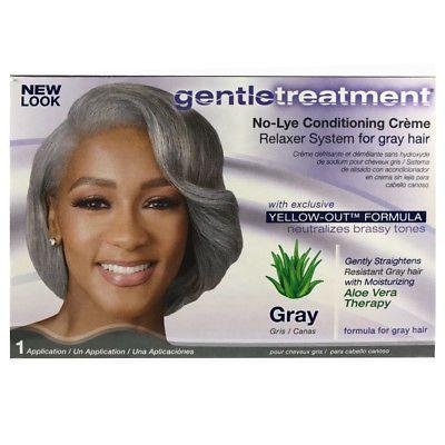 Gentle Treatment Relaxer Kit Gray Hair
