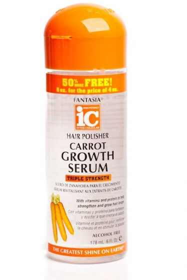 Fantasia IC Hair Polisher Carrot Growth Serum 6oz.