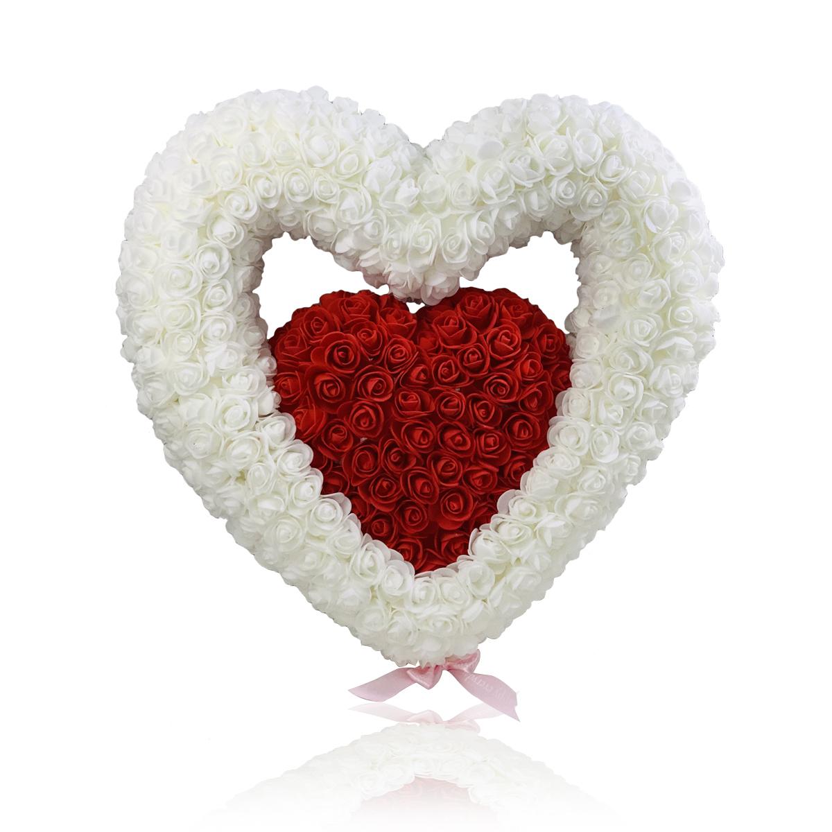 Herz mit innen Herz 40cm