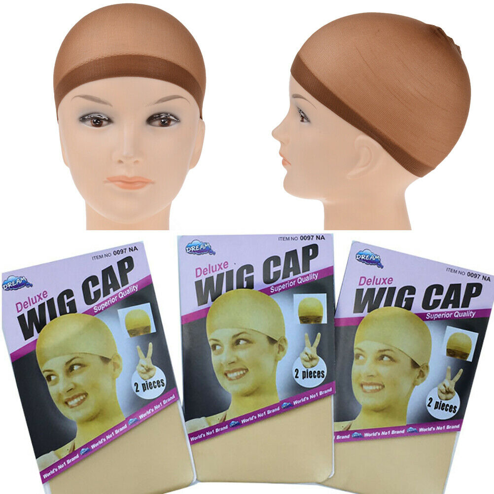 Wig Cap Hair 2 Pack Black & Nude Breathable Stocking