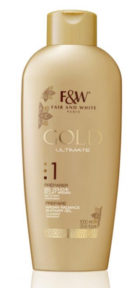 F&W Gold 1 Gel Douche Argan 1000ml