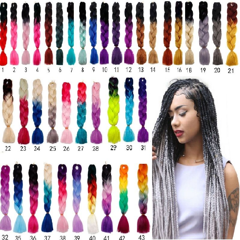 Ombre Jumbo Braiding Hair 24'' Kanekalon African Braids 100g/pc De nue