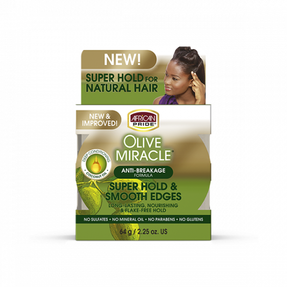 African Pride Olive Miracle Silky Smooth Edges 2.25oz