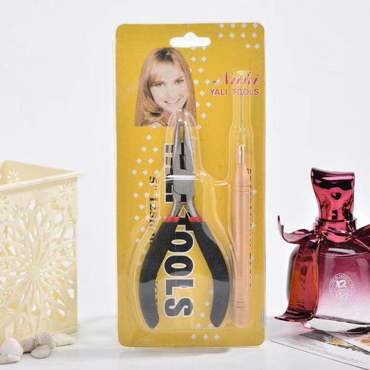 Salon Microring Set für Haarverlängerung mit Zange Nadel Harre Extensions