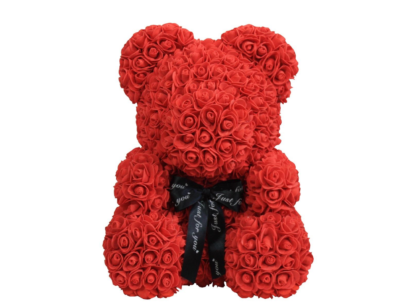 Rose Bär Teddybär Große Rosenbär Rot 40cm