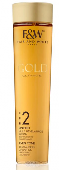 F&W Gold 2 Even Tone Revitalizing Argan Oil 200ml.