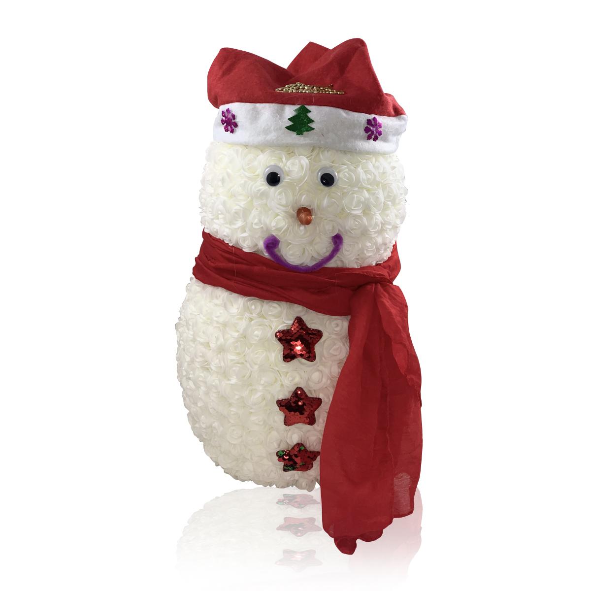 Rosen-Schneemänner MERRY CHRISTMAS
